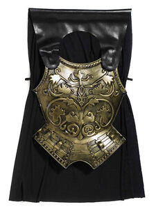 Adult Mens Roman Emperor Chest Plate With Cape Fancy Dress Accessory Armour New