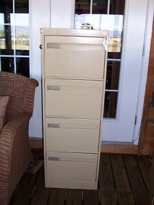 COLE METAL FILING CABINET like new WITH KEY