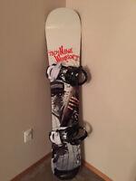 AWESOME snowboard Tech Nine Warrior, Burton Boots, Rome Biddings
