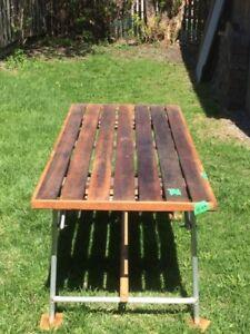 Red / White Cedar / BC fir  Foldding Picnic Table
