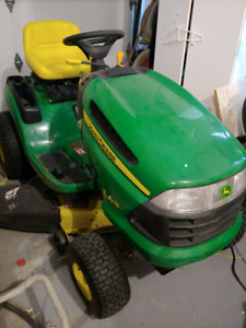 John Deere LA115 lawn tractor.