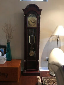 Grandfather clock, cherry wood.