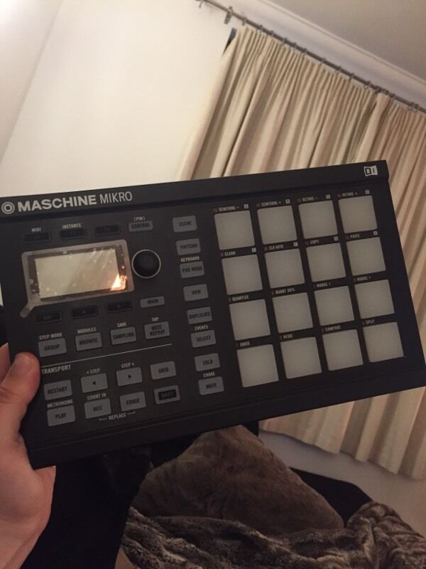 black drum machine