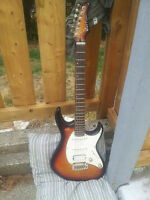 OBO strat style electric guitar HSS configuration (Cort G270)