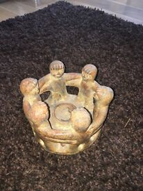 Rustic looking candle holder