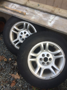 Two 235/75/15 tires and wheels