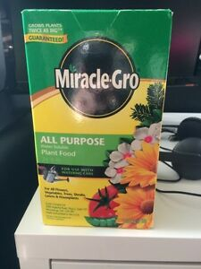 Miracle grow plant food fertilizer with thermometer