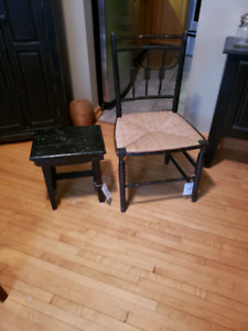 Antique chair and little table