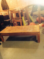 Wood, Oak Coffee Table and End Tables (3 pieces)