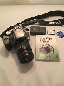 Like New! Canon, Rebel XT EOS 350D digital camera & 18-55mm lens