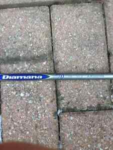 Diamana Blue 70+ Stiff flex hybrid shaft and grip