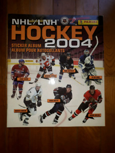 Album ďautocollants nhl hockey 2004 panini