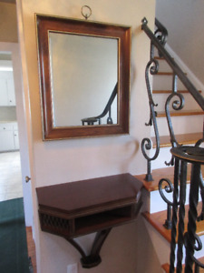 MIRROR AND SHELF UNIT: PERFECT FOR ENTRANCE OR HALLWAY