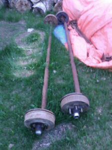 For Sale 2-3500 lbs Trailer Axles $200.00 obo