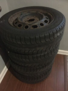 Set (4) of Michelin X-Ice Tires ON RIMS (195/65/15)