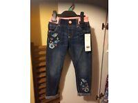 Brand new girls jeans 3-4yrs