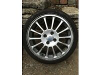 17 inch ford alloy wheel and tyre fiesta Si