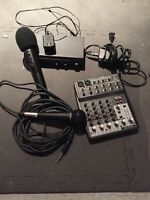 Barter trade shure microphone, wireless mic/ receiver, soundboar