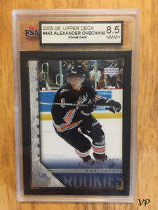 ALEX OVECHKIN 2005-06 UD Young Guns #443 YG Rookie Card RC