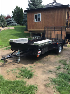 6x12 trailer with 4' tool boxes