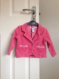 DKNY pink coat 12-18