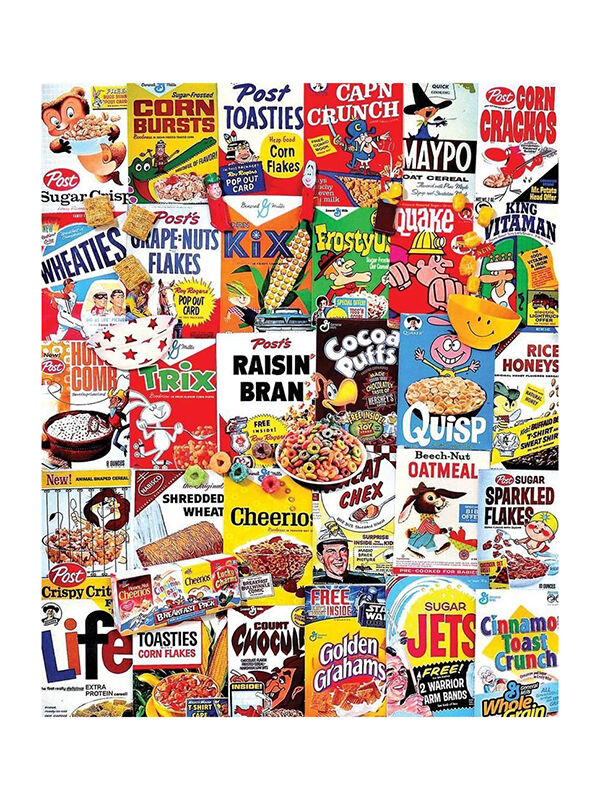 White Mountain Cereal Boxes Puzzle