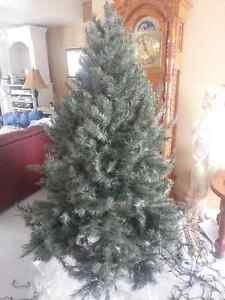 6.5 foot blue spruce artificial Christmas tree Stratford Kitchener Area image 1