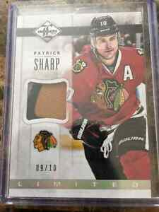 Hockey card of Patrick sharp patch rare only 10 made
