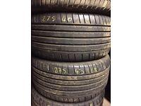 275/40/18 part worn tyres Coleraine