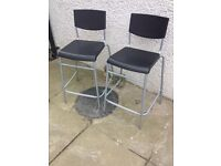 Black High Stools / Chairs - MUST GO
