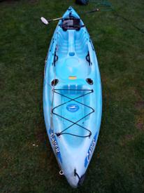 Single sit on top fishing kayak + seat + paddle
