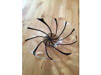 Glass bowl black line