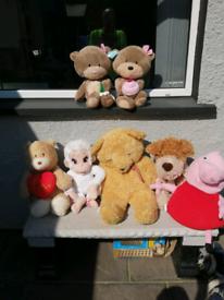 Assortment of cuddley animals