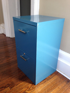 Filing Cabinet - Retro Blue