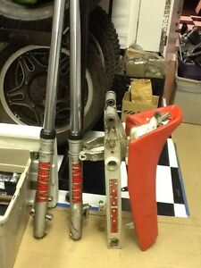 PARTS for 1987 YZ 125 Forks, Seat, Swingarm