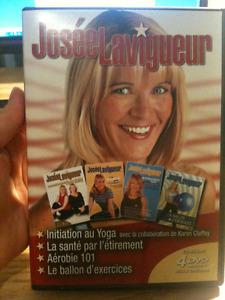 DVD de Yoga et d'exercices de Josée Lavigueur
