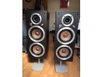 Vintage Wharfdale Ventana 175W Floor Speakers with stands