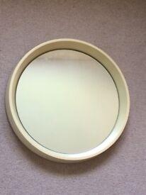 Retro white mirror