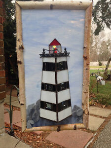 "Stained Glass Christmas Tree -- Hand Made -- Approx. 4""- 6"" high London Ontario image 2"