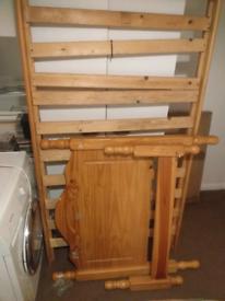 Pine single bed and single matteress