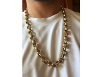 Solid gold belcher chain 9ct gold 246g no link just a solid chain