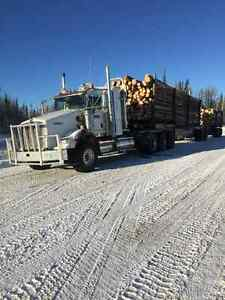 2013 Kenworth t800, tridrive, logging truck and trailer,OBO