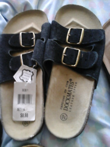New sandels,  sneakers,  tags attached size 10 ladies, 9 mens