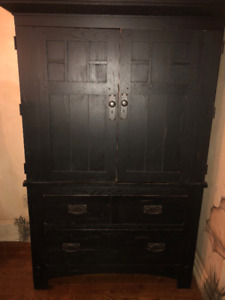 Solid Wood Armoire (Wardrobe) made by Broyhill