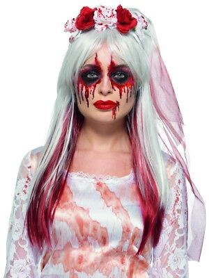 Halloween Bridal Makeup (Bloody Bridal Blutbraut Make-Up Set Halloween Blood Makeup)