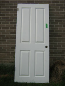 31 3/4 X 77 1/4  6 panel insulated Interior door
