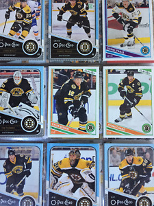 123 Different Boston Bruins Hockey Cards - $7