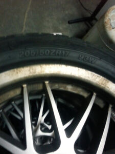 Tires on alloy wheels