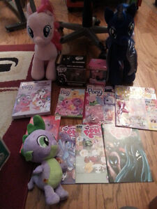 My little pony build a bear Pinkie Pie, Luna & Spike. Funko lot.