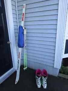 "77"" Fischer Skis+poles and Dynafit Boots"